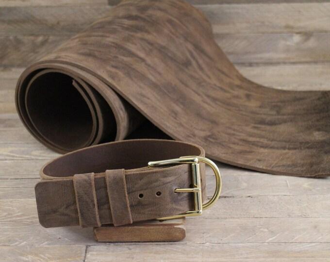 XLarge dog collar, FREE ID TAG, Handmade leather collar, Crazy horse collar, Solid brass hardware, Collar, Nickel plated hardware, Collars.