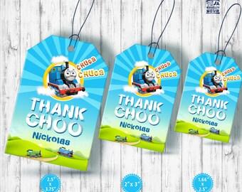 Thomas the train Tag, Friends Engine Tag, Thomas Thank You Tags, Custom, Thomas Gift Tags, Thomas Favor Tags, Birthday Tags, Printable Tag