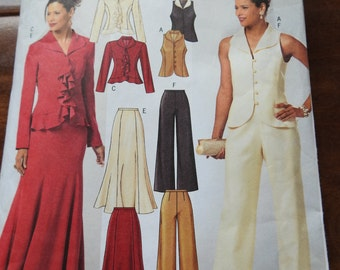Butterick B4603 Women's Evening Suit Combination Outfits Sewing Pattern