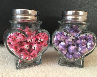 2 Origami Lucky Star Jars
