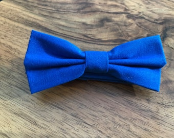 Boys Bow tie - Blue Bow Tie - Bow tie for boys - baby bow tie - Wedding bowtie - Boys 1st Birthday bow tie - Kids Bow Ties