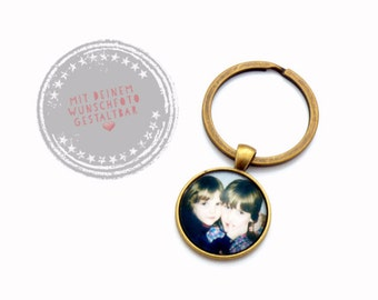 "Individual key chain ""Your photo/text"""