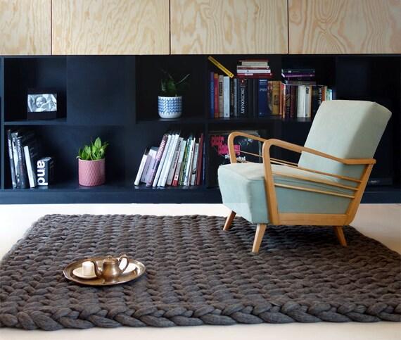 knitted tapis tapis maille paisse tapis de grosse laine. Black Bedroom Furniture Sets. Home Design Ideas