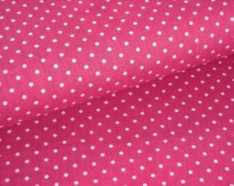 Fabric cotton fuchsia with white dots