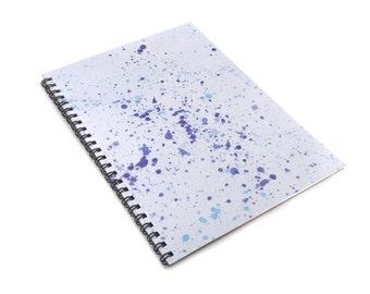 Paint Splatter A5 Spiral Notebook