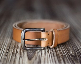 Black Belt - Brown Belt - Leather Belt - Women's leather belt - Men's leather belt - 3 cm width - Gift for men - Gift for women