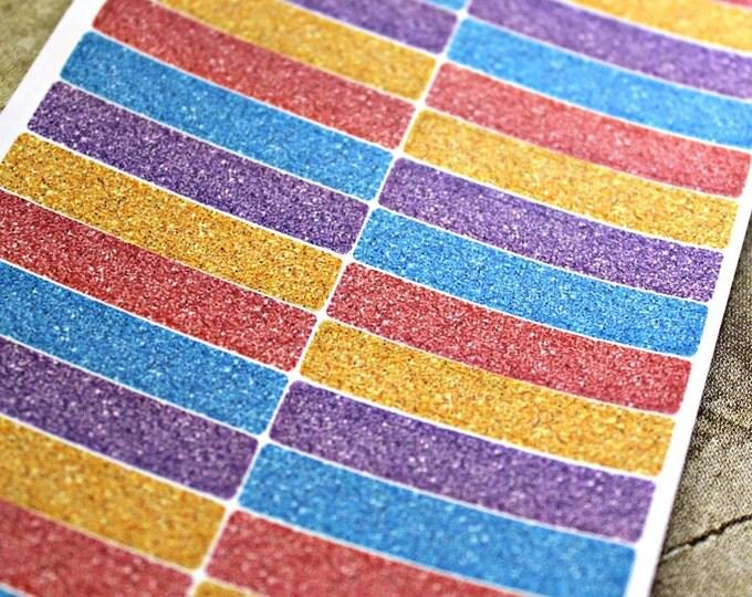 Planner Stickers - Glitter Header Boxes - Erin Condren Life Planner - Happy Planner - Glitter Headers - Spring Stickers - Glitter Stickers