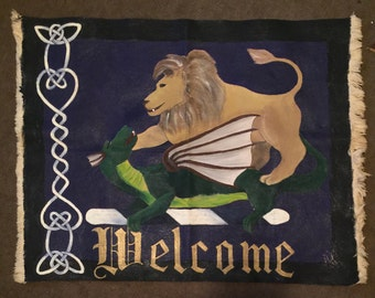 Large welcome mat/ wall hanging