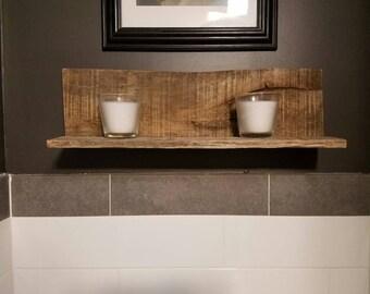 Rustic Reclaimed Wood Decor Shelf