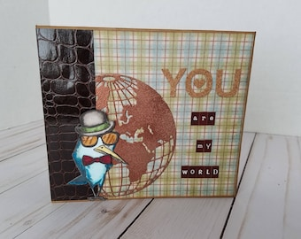 Handmade scrapbook min album - YOU are my World