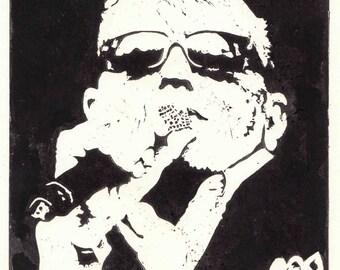 Suggs (Madness) Lino 15cm x 20cm