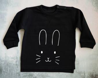 Bunny Sweater - Bunny Sweatshirt - Bunny Jumper - Bunny Face Children's Jumper