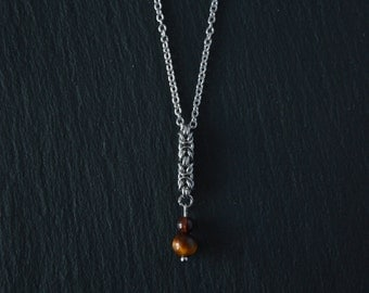 Eye of Tiger necklace mini totem stone year of birth