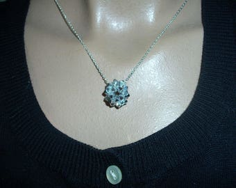 necklace dodecahedron crystal Svarowski