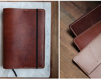 Leather notebook / moleskin cover A5