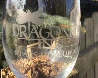 Dragonfly Inn - Stemless wine glass from Gilmore Girls