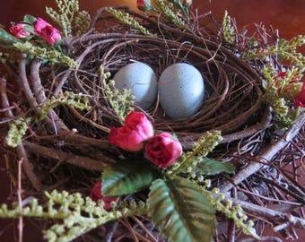 Pink Floral Bird Nest
