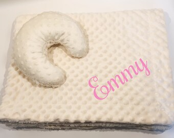 Personalized Baby Blanket Gift Set