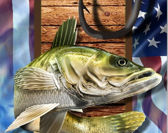 Walleye Fish Hooks One More Cast LAMINATED Cornhole Wrap Bag Toss Decal Baggo Skin Sticker Wraps