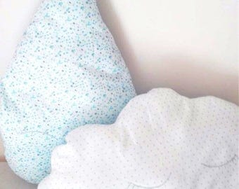 Scatter cushions of Kawaii Raindrop and Cloud for bedroom/living room