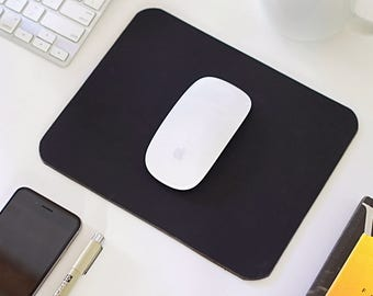 Leather Mousepad, Black Leather Mousepad, Minimalist Mouse Pad Leather, Mouse Mat, Desk, Stationary