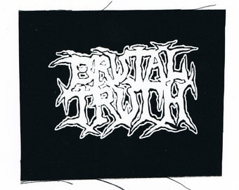 Brutal Truth Band Patch
