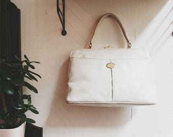 Vintage White Totebag 70s