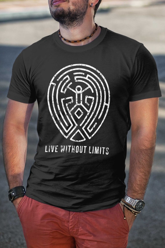 WestWorld Maze 'Live Without Limits' (Distressed Look) - Man's Tee - Sizes S, M, L, XL, XXL - 4 colors