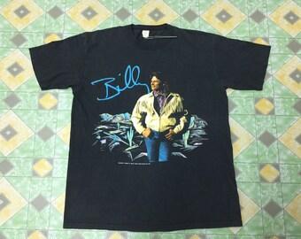 Vintage 90s Billy Dean Under License To Front Range Merchandise Inc 1991 Black Shirt