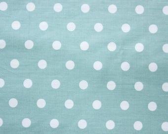 Polka dot Fabric, Cotton Fabric, Aquamarine, Medium Dots, Basic Essential, Quilting Dressmaking Sewing Patchwork Supplies, Wide, Half Metre