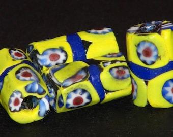 V46-   4 nice millefiori beads