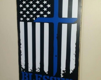 Blessed are the peacemakers 18x24 wood sign