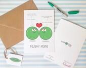 Mushy Peas - Funny I Love You Card - Alternative Birthday Card - Girlfriend Boyfriend Partner Husband Wife Anniversary Love - Charity Card