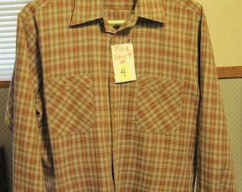 Shirt #4, Men's Long Sleeve Shirt, Men's Medium Plaid Shirt