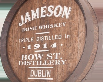 Jameson Whiskey Barrel Carving
