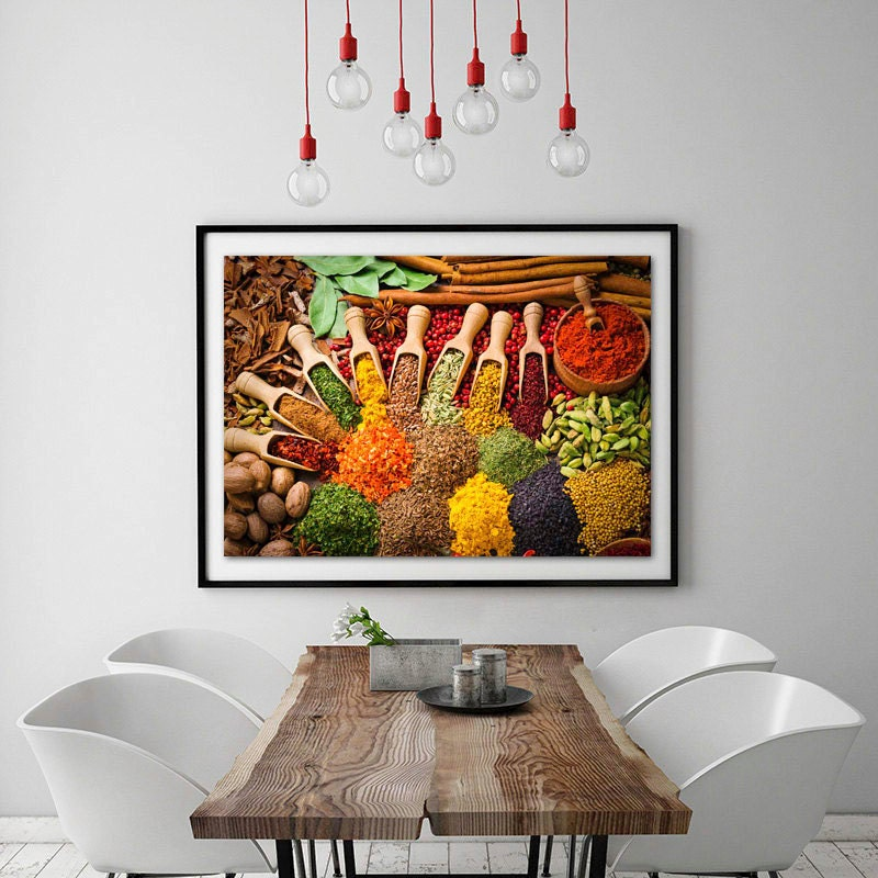 Food Photography,kitchen Wall Art,Food Prints,Food Art,indian Spices,