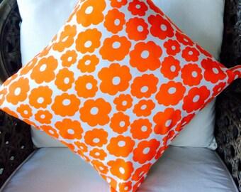 Cushion Cover Square Orange Flower Power