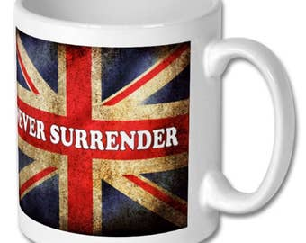 United Kingdom Union Jack Never Surender - Novelty Mug