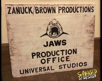 JAWS Production Office Sign. Amity island. Amity. Beach closed.