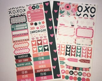 Happy Lovely Spring MM Stickers Louis Vuitton Mambi Inkwell Press Filofax Kikki K Happy Life Planner LV pink glitter