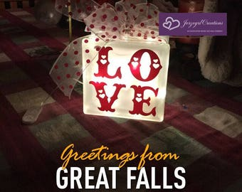 Hand Crafted Love Glass Lamp