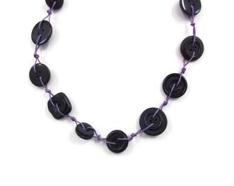 long black necklace - modern chic necklace - boho contemporary - endless necklace - claspless necklace - extra long necklace