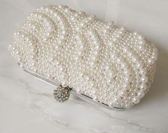 Henrietta Beaded Bridal Bag, Bridal Clutch, Wedding Bag, Bridal Purse, Evening Bag, Bridesmaid Bag, Wedding Purse