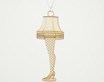Laser Cut Wood Leg Lamp Ornament - 50% off