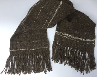 Rambouillet and Angora Hand Woven Scarf