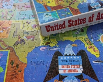 Vintage Puzzle - United States of America