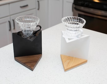 Triangular Coffee Pour Over Stand