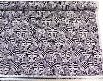 Zebras Black White 100% Cotton High Quality Fabric Material *2 Sizes*