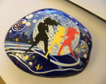 hand painted stone dance & music
