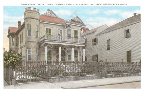 Items Similar To Vintage New Orleans Postcard Print